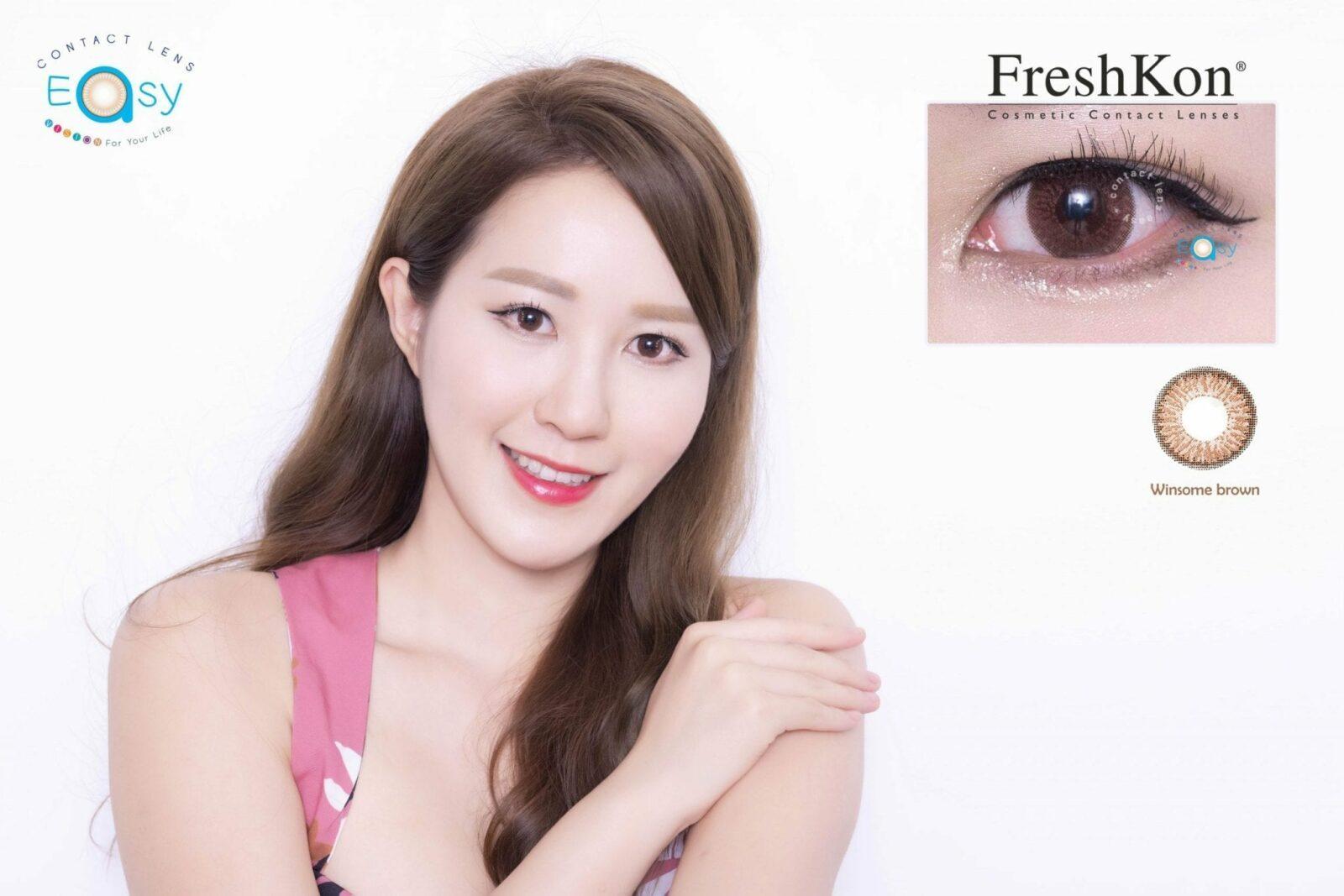 Freshkon Alluring Eyes 大美目 1 Day - Winsome Brown (原盒環保裝)_info