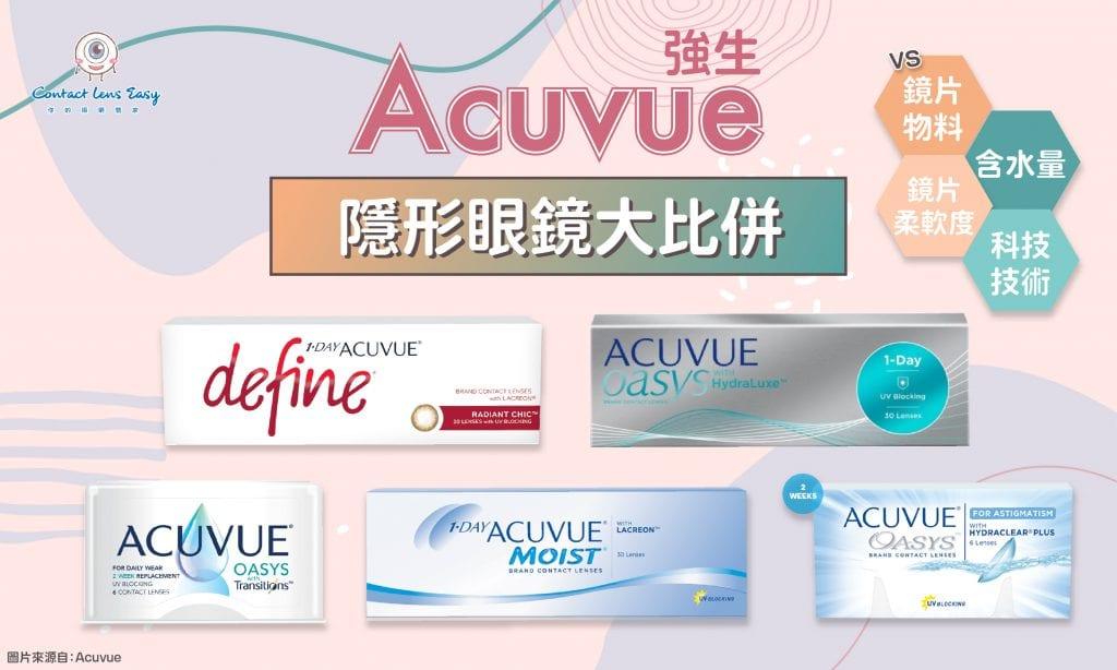 Acuvue隱形眼鏡評價,價錢及規格比較