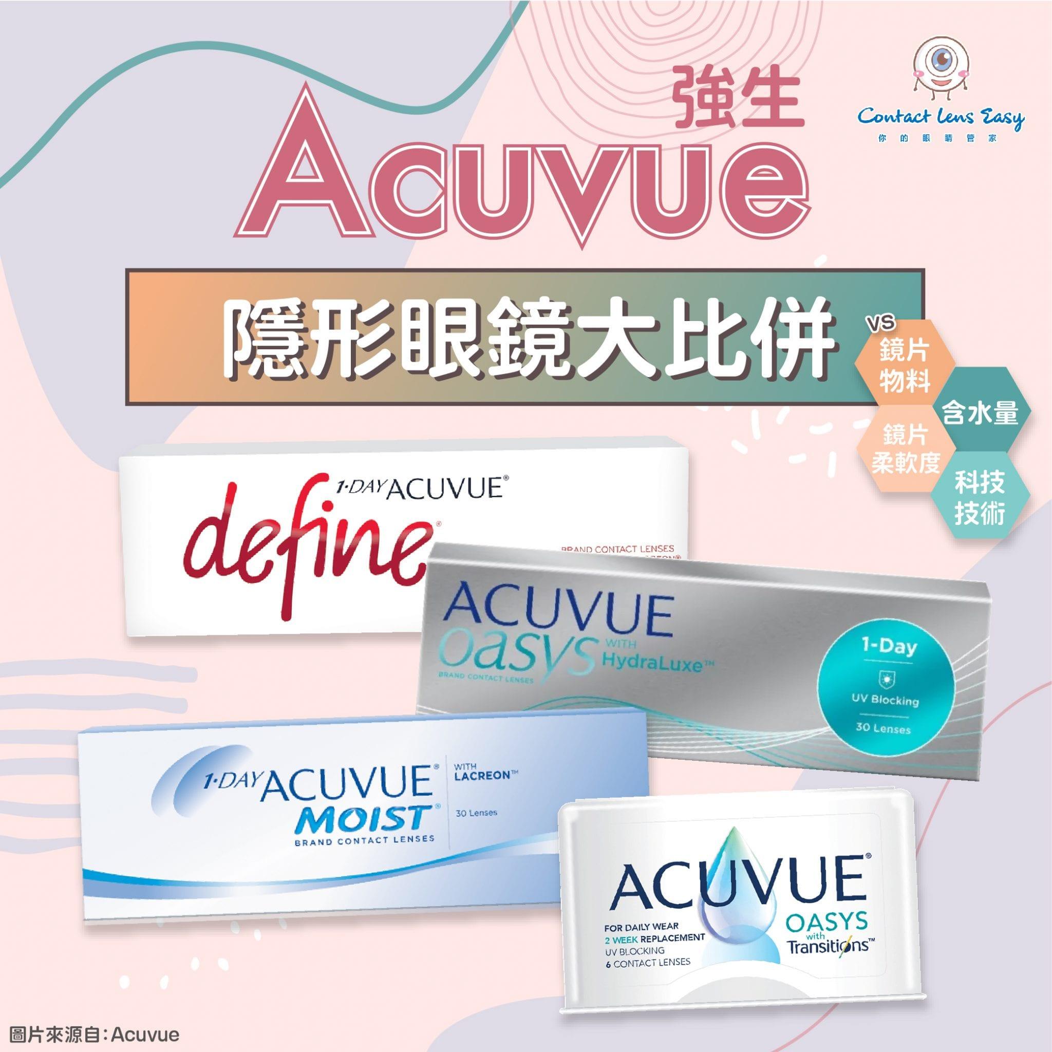 Acuvue 隱形眼鏡評價,價錢及規格比較 (2021年更新)
