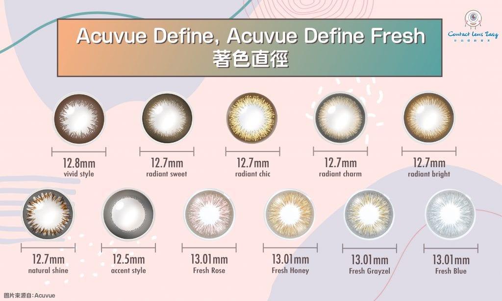 acuvue define-acuvue define fresh-著色直徑