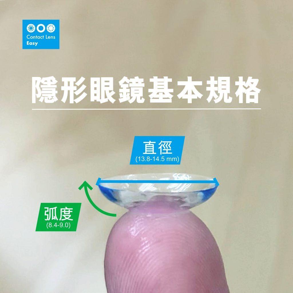 隱形眼鏡基本規格